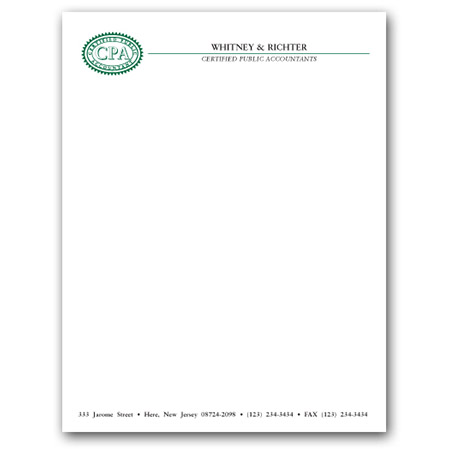 2-Color Letterhead