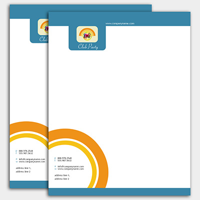 3-Color Letterhead
