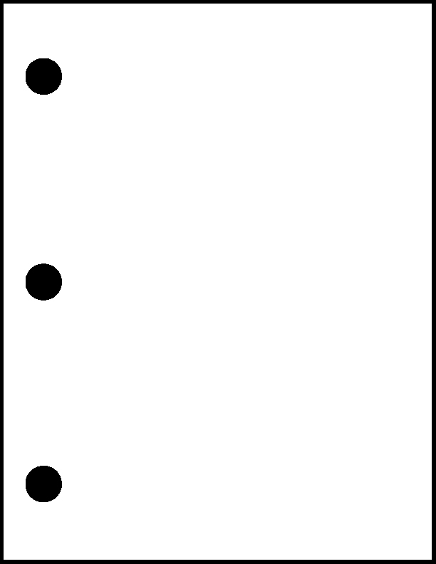 3 Hole Drill (1/4 inch holes)